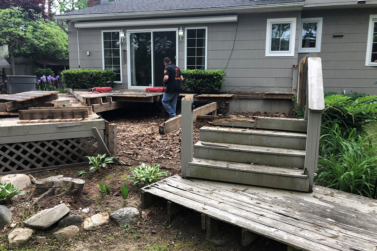 deck rip out services long island